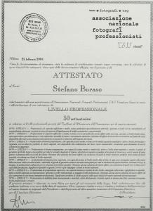 Attestato del Tau visual di Stefano Boraso